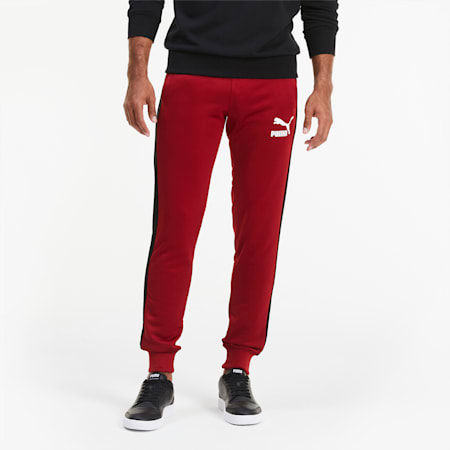 Iconic T7 Men's Track Pants, Red Dahlia, small