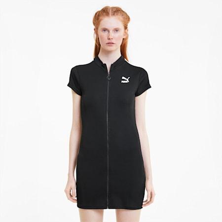 클래식 립 타이트 반팔 드레스/Classics Ribbed Tight Dress, Puma Black, small-KOR