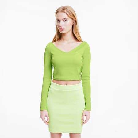 Classics Women's Ribbed Crop Top, Sharp Green, small