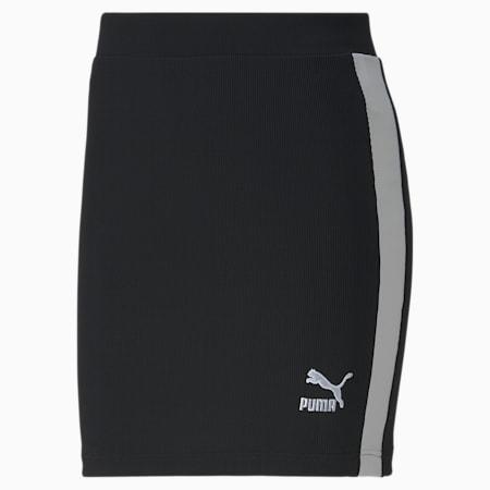 클래식 로고 스커트/Classics Ribbed Skirt, Puma Black, small-KOR