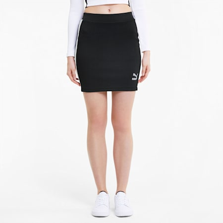Classics Ribbed Women's Skirt, Puma Black, small-SEA