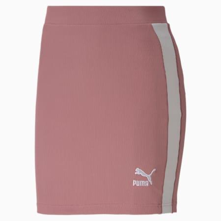 클래식 로고 스커트/Classics Ribbed Skirt, Foxglove, small-KOR
