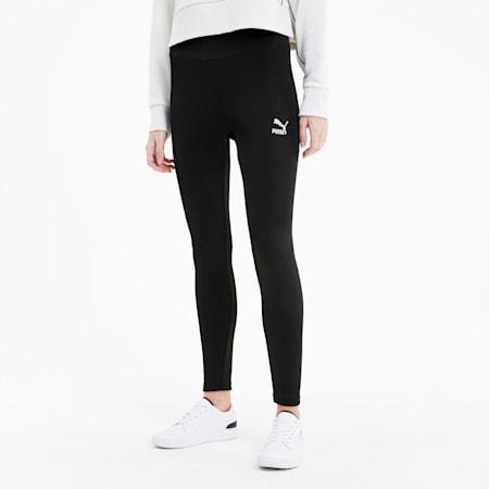 클래식 로고 레깅스/Classics Ribbed Leggings, Puma Black, small-KOR