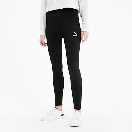 Classics Women's Ribbed Leggings, Puma Black, small