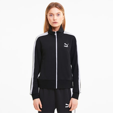 Iconic T7 Damen Trainingsjacke, Puma Black, small