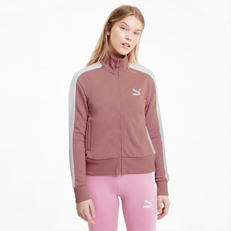 Iconic T7 Women's Track Jacket, Foxglove, small-SEA