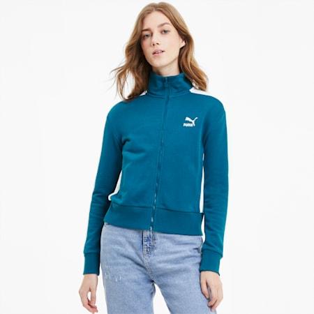 Classics Women's T7 Track Jacket, Digi-blue, small