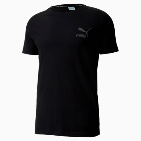 Iconic T7 Slim Men's Tee, Puma Black, small-SEA