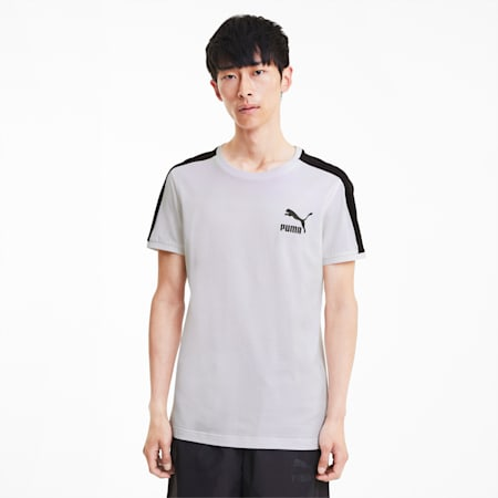 Iconic T7 Slim Men's T-Shirt, Puma White, small-IND