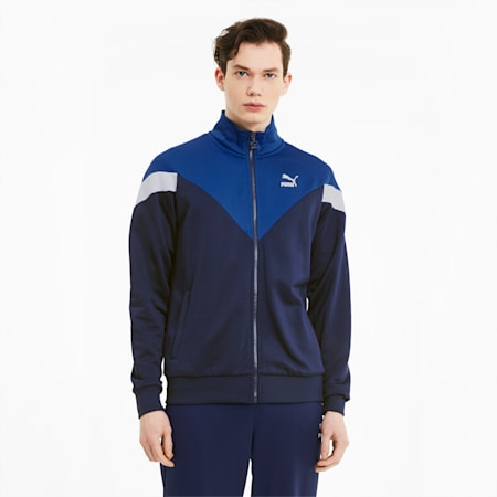Iconic MCS Men's Track Jacket, Peacoat, small