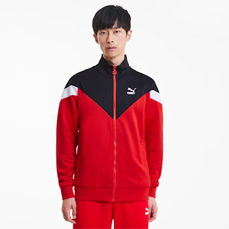 Iconic MCS Men's Track Jacket, High Risk Red, small