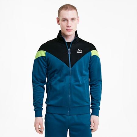 Iconic MCS Men's Track Jacket, Digi-blue, small