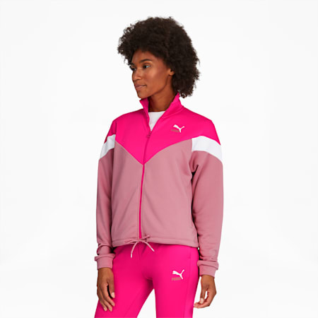 Classics MCS Women's Track Jacket, Glowing Pink, small
