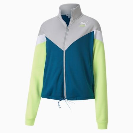 Classics MCS Women's Track Jacket, Digi-blue, small