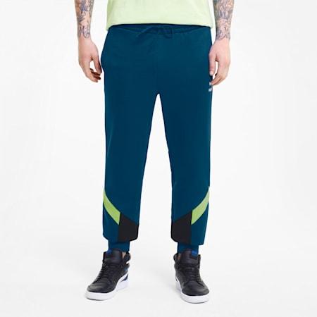Iconic MCS Men's Track Pants, Digi-blue, small