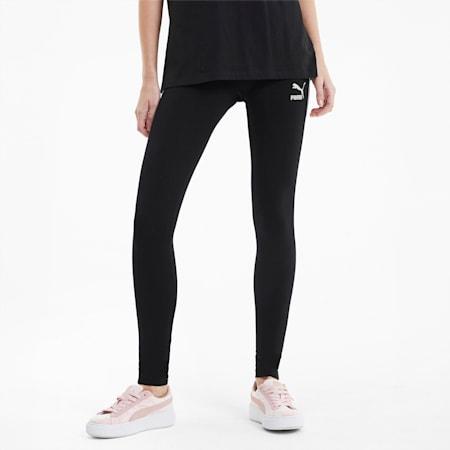 클래식 로고 티 세븐 레깅스/Classics T7 Legging, Puma Black, small-KOR