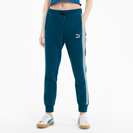 Pantalones deportivos ClassicsT7 para mujer, Digi-blue, pequeño