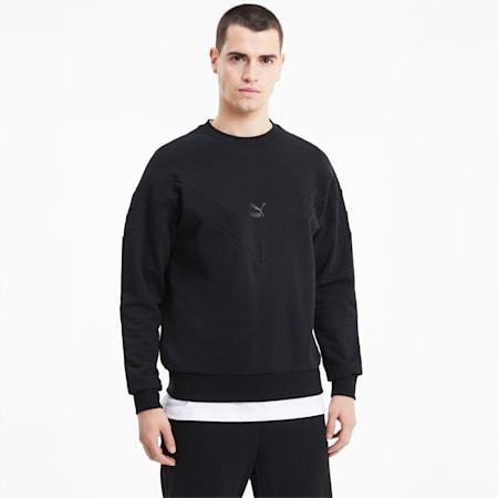 Iconic MCS Crew Neck Men's Sweater, Puma Black, small-IND