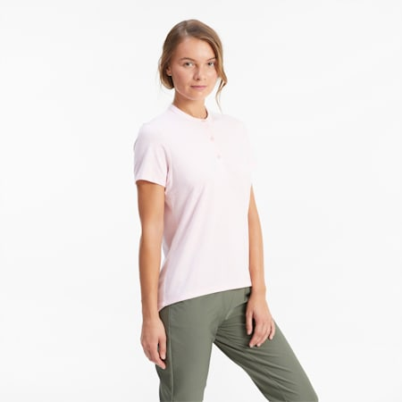 Essence golfpolo voor dames, Peachskin Heather, small