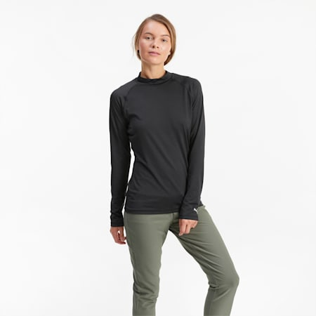 Baselayer Damen Golf-Langarmshirt, Puma Black, small