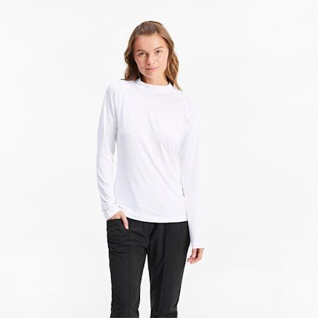 T-Shirt Baselayer pour le golf pour femme, Bright White, small