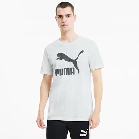 Classics Logo Herren Kurzarm-Shirt, Puma White, small