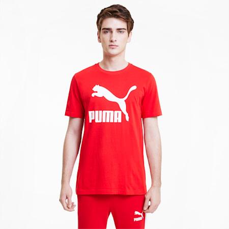 Classics Logo Herren Kurzarm-Shirt, High Risk Red, small