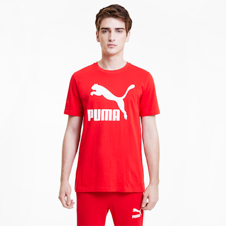 Classics Logo T-shirt voor heren, High Risk Red, small