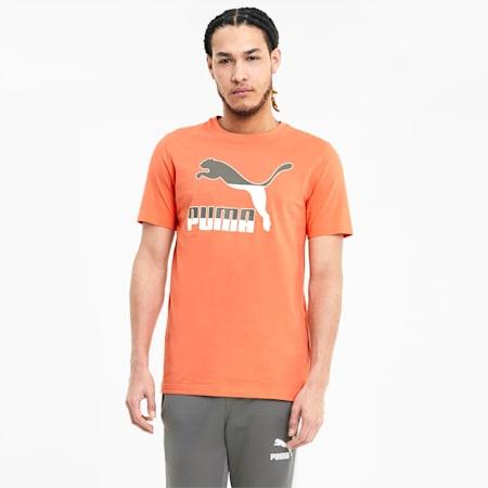 Classics Logo Men's Crew Neck T-Shirt, Fusion Coral, small-IND