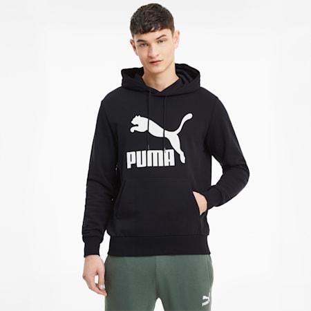 Classics Logo Men's Hoodie, Puma Black, small
