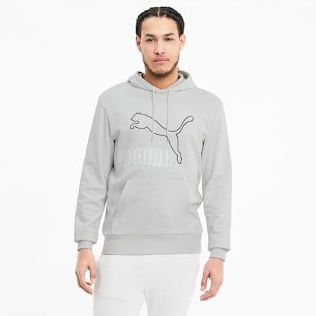 Classics Men's Logo Hoodie, Vaporous Gray, small