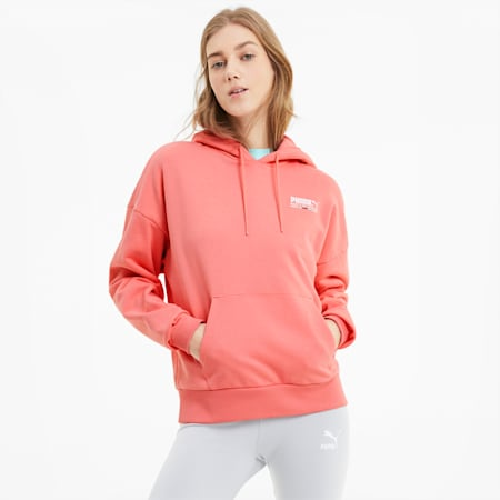 TFS Women's Hoodie, Salmon Rose, small-IND