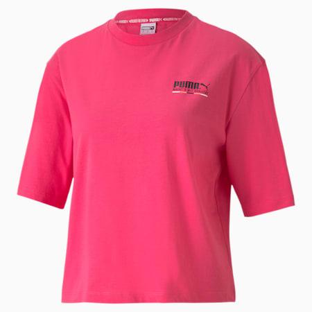Camiseta de corte normal para mujer con gráficos TFS, Glowing Pink, small