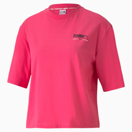 TFS Graphic Regular T-shirt voor dames, Glowing Pink, small