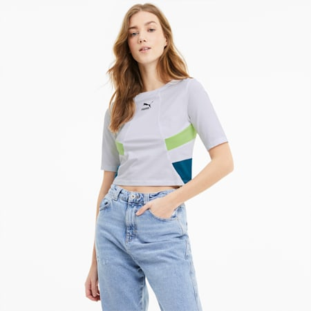 TFS Retro Crop Women's Top, Puma White, small-SEA