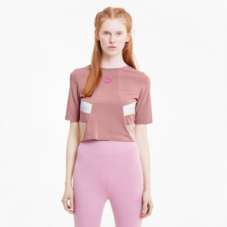 Tailored for Sport Retro Women's Crop Top, Foxglove, small