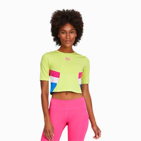 Damska skrócona koszulka TFS Retro, Sharp Green, small