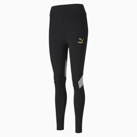 TFS Graphic Damen Leggings, Puma Black-multicolor, small