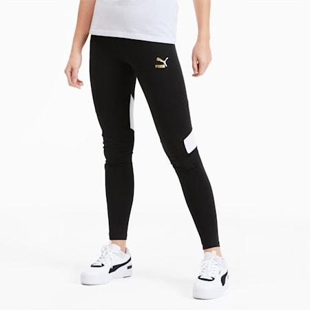 TFS Graphic Women's Leggings, Puma Black-multicolor, small
