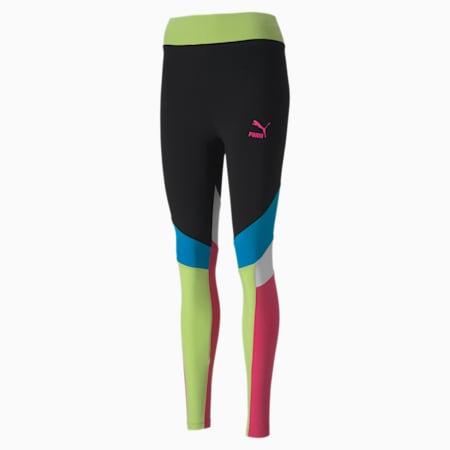 TFS Graphic Damen Leggings, Puma Black-multi, small