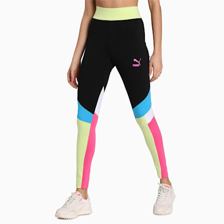 Tailored for Sport Women's Graphic Leggings, Puma Black-multi, small