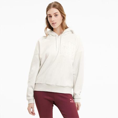 Tailored for Sport Women's Polar Fleece Hoodie, Vaporous Gray, small