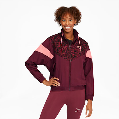 Tailored for Sport Winterized Women's Track Jacket, Burgundy, small