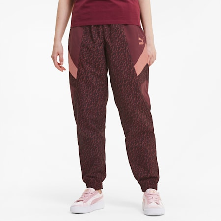 Tailored for Sport Women's Track Pants, Burgundy, small