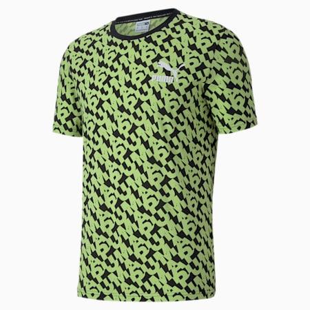 CLASSICS グラフィック AOP ロゴ 半袖 Tシャツ, Puma Black, small-JPN