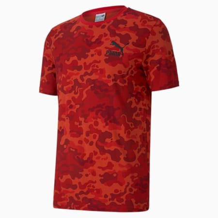 Classics Men's Graphic AOP Tee, High Risk Red, small