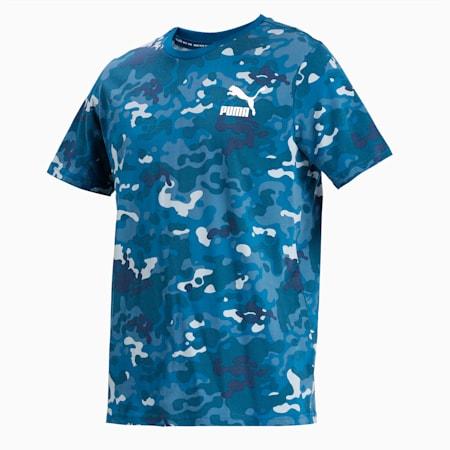Classics Graphics Printed Men's T-Shirt, Digi-blue, small-IND