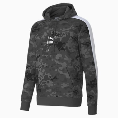 Classics Graphic Printed Men's Hoodie, Ultra Gray, small-IND