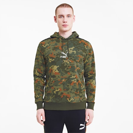 Classics Men's Graphic AOP Hoodie, Forest Night, small