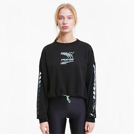 Evide Crew Neck Women's Sweater, Puma Black, small